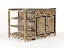 ilot central cuisine bois ilot central de cuisine en bois et marbre longueur 145cm largeur