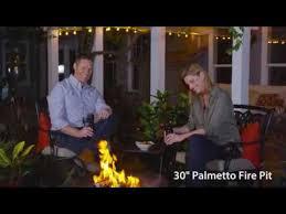 Pleasant Hearth Fire Pit - pleasant hearth ofw717rc palmetto fire pit video youtube