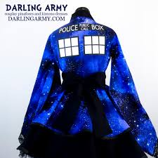 tardis doctor who galaxy cosplay kimono dress wa accessory