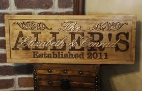 personalized wedding plaque personalized family last name signs plaque carved custom wooden