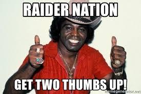James Brown Meme - raider nation get two thumbs up young james brown meme generator