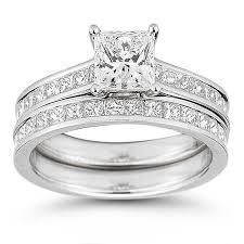 princess cut wedding set princess cut 3 10 ctw vs2 clarity i color diamond platinum