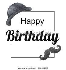 birthday card man happy birthday stock illustration 662864860