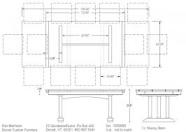 average kitchen table size standard dining room table size