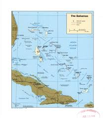 North America Political Map by Large Detailed Political Map Of Bahamas With Roads Railroads And