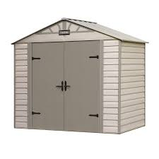 craftsman 8 u0027 x 5 u0027 vinyl coated steel shed durable storage at sears