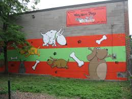 new dog park mural improved two dog tales last week