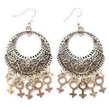 feminist earrings feminist earrings venus symbol earrings woman symbol earrings