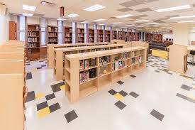 library interior design planning video and photos