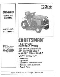 craftsman 917 255692 owner s manual