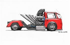 volkswagen bus drawing drake nolte rat rod van vehicle design at humber