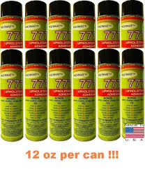 Car Upholstery Adhesive 12 12oz Glue Cans Polymat 777 Industrial Spray Adhesive For Auto