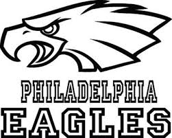 philadelphia eagles logo coloring pages colors throughout