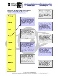 planets worksheet english pinterest vocabulary planets and