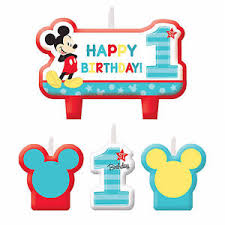 mickey mouse 1st birthday disney mickey mouse 1st birthday cake candle set party supply baby