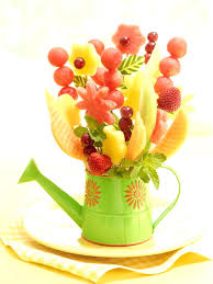 flower centerpieces fruit in flower arrangements watermelon board flower vase