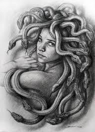 saatchi art medusa denis nunez drawing by hanoi martinez