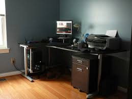 L Shaped Computer Desk Black by Awesome Black L Shaped Desk Thediapercake Home Trend