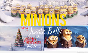 funny merry christmas minions images backgrounds