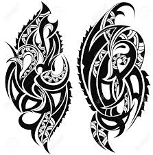 maori shoulder tattoo design royalty free cliparts vectors and stock