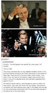 Great Gatsby Meme - great gatsby titanic memes titanic gatsby crossover truth