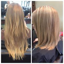 smooth gorgeous shine midlength hair blonde with highlights j