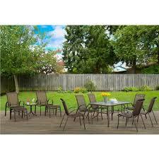 Mainstays Crossman 7 Piece Patio Dining Set Green Seats 6 Fallbrook 12 Piece Sling Dining Set Outdoor Living Pinterest