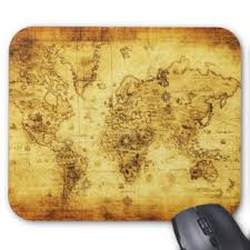 Vintage Desk Pad Vintage Map Mouse Pads Zazzle