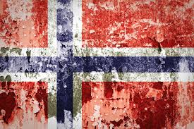 Norweigan Flag Norwegian Flag Painted On Grunge Wall Stock Photo Picture And