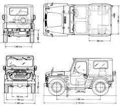 Blueprints Free by Suzuki Jimny 1970 Blueprint Download Free Blueprint For 3d