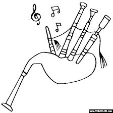 cello coloring page bagpipes coloring page color bag pipes bagpipes pinterest