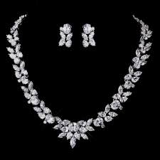 bridal necklace earring images Cubic zirconia wedding jewelry judith bridal jewelry set jpg