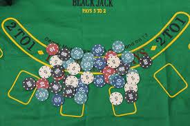 Black Jack Table by Super Deal 200 Baccarat Chips Bargaining Poker Chips Set