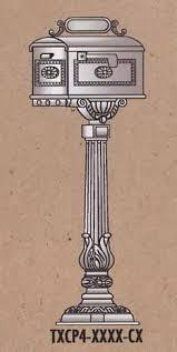 Aluminum Pedestal Cast Aluminum Mailboxes