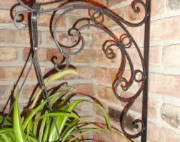 Wrought Iron Garden Decor Metal Plant Hanger Etsy