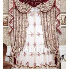 Valance Curtains For Living Room Baby Blue Luxury Simple Modern Living Room Blackout Curtains
