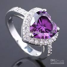 amethyst heart rings images 2018 6 love heart cut purple amethyst cocktail silver ring yin jpg