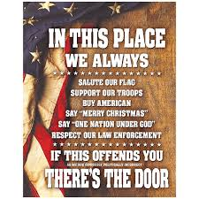 United States Flag Store Coupon Code In This Place We Always Salute The Flag Tin Sign Vintage Style