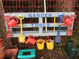 garden tool holder i made from pallet follow my