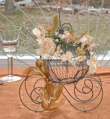 carriage centerpiece cinderella pumpkin coach centerpiece quinceanera fairytale