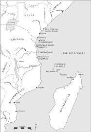 Eastern Africa Map by East Africa Showing The Site Of Tumbe On Pemba Island Off