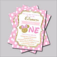 online get cheap minnie mouse invitations aliexpress com