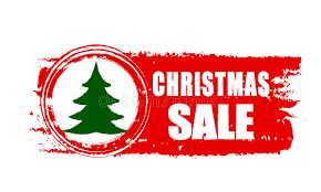 christmas tree sale christmas sale and christmas tree on banner stock image