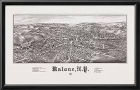 Malone Ny Map Malone Ny 1886 Vintage City Maps Restored City Maps