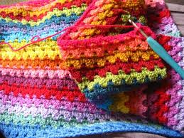 attic24 granny stripe blanket