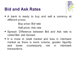 bid rate the foreign exchange market