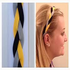 sports hair bands fabulicious yellow black gray braided headband non slip sports