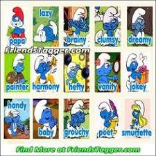 smurfs names pics