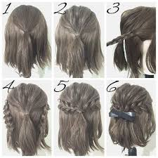 how to braid short hair step by step half up hairstyles for short hair hacks tutorials easy prom