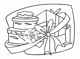 many birthday gifts coloring page for kids holiday coloring pages